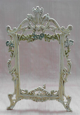 *****antique Easel Back Frame Painted Floral Openwork Wonderful Condition*****