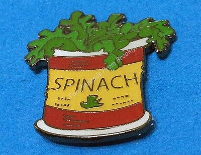 Popeye Loves His Spinach! Red Label Can Collector Pin