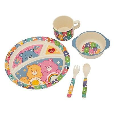 Care Bears Bamboo Mealtime Set, Baby or Toddler, Dishwasher safe,  NEW