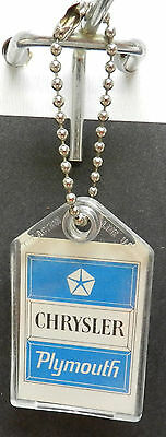 Chrysler Plymouth Key Ring Chain Dealer Promo Mopar Cuda Gtx Roadrunner Fury