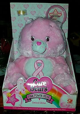 Care Bears Pink Power Bear Breast Cancer Limted Edition Bracelet 2008 COMPLETE