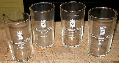 Set of 4 Canadian Club Whisky Glasses Good Used Condition