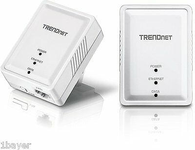 TRENDnet Home Internet Wifi Network Ethernet Outlet Plug Hub Power Adapter
