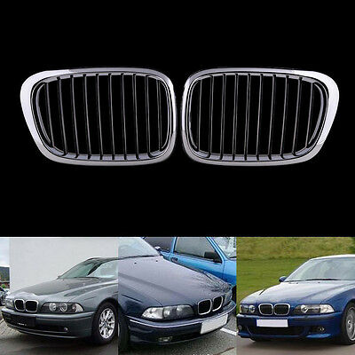 For 99-04 BMW E39 5series 525 530 535 540 M5 Front Chrome Silver Grille Grill