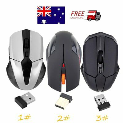2.4 GHz Wireless Optical Mouse Mice + USB 2.0 Receiver for PC Laptop new WY