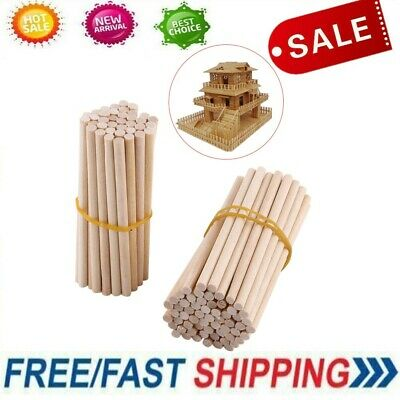 100pcs 80mm Round Wooden Lollipop Lolly Sticks Cake Dowel for DIY Food Craft IS