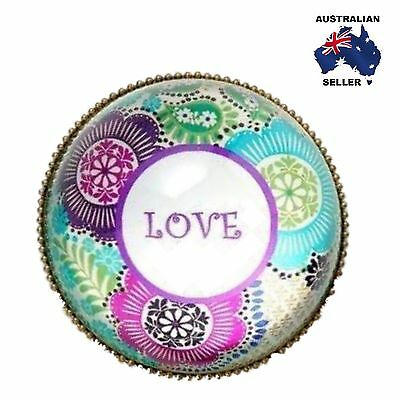 'LOVE' Glass Domed Paperweight - Gift Boxed - Home Decor