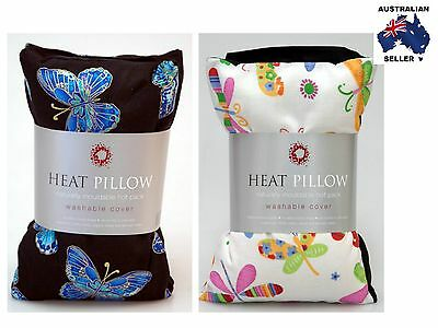 Wheat Bag Heat Pillow - Chill Pillow - Removable Cover - Butterfly or Dragonfly