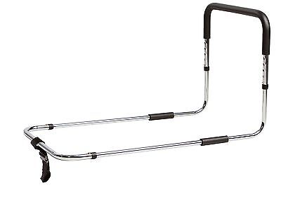 Secure Bed Assist Rail with Height Adjustable Handle and Safety Anchor Strap - B
