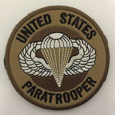 Paratrooper Parachutist Badge Military Tactical Morale Insignia Medal SWAT Patch