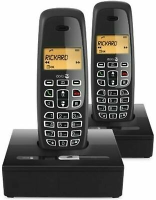 DORO NeoBio 2 Handsets (Dual) Home Speaker Phone Cordless Phone 2 base units NEW