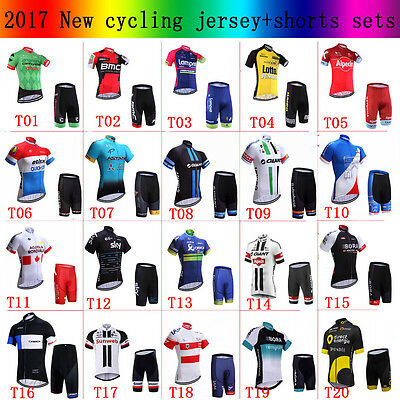 2017 New cycling jersey and shorts Sets Cycling Clothing  cycling top ciclismo