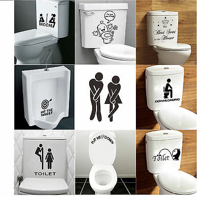 WC Toilette Tattoo Aufkleber Sticker Wandtattoo Computer 3D Art Dekor