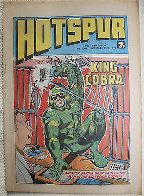 7 Hotspur Comics from 1978/79 Issues #1001 to #1005, #1007 & #1008