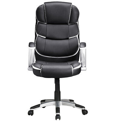 Black Ergonomic Executive High Back Computer Desk Office Chair PU Leather US NeW