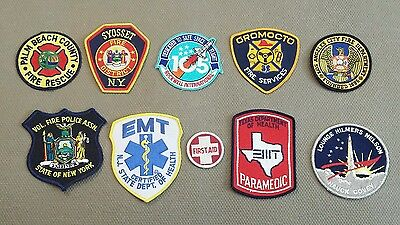 Lot of 10 Various U.S. Fire Paramedics Space Exploration Patches 04/17 - 018