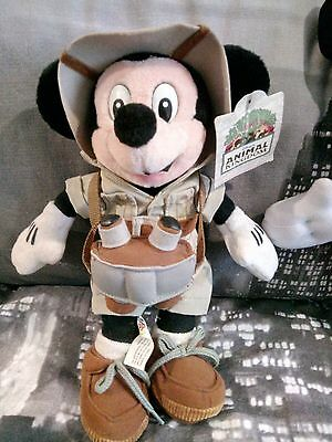 New with Tags Disney micky mouse safari animal kingdom 10 inch plush toy