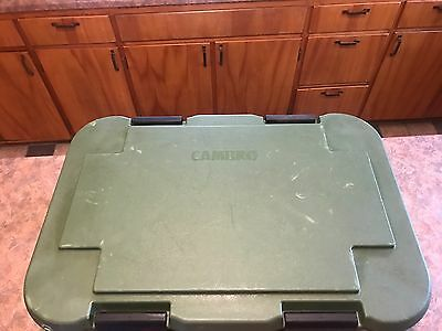"MILITARY Grade Cambro  (3 Compartment) 8"" DEEP  insulated Food carrier Surplus!"