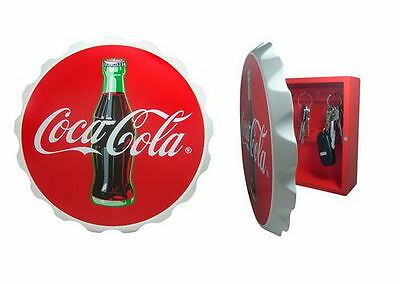 Coca Cola Coke Contour Bottle Cap Key Box Holder New!!