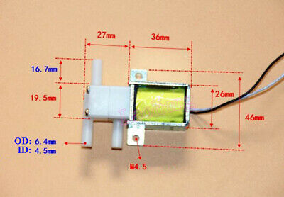 DC 12V 3-Way NO NC Solenoid Valve Air Water For Water Dispenser Coffee Machine