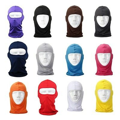 AU Unisex Outdoor Motorcycle Full Face Mask Lycra Balaclava Ski Neck Protection
