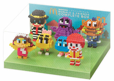 Brand New McDonald's x nanoblock Ronald & Friends collection set of 7