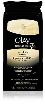 Olay Total Effects 7-in-1 Wet Facial Wipes, 30 count