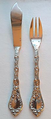 ODIOT .950 Sterling Silver DEMIDOFF Solid Fish Knife and Fork Set  2 Available