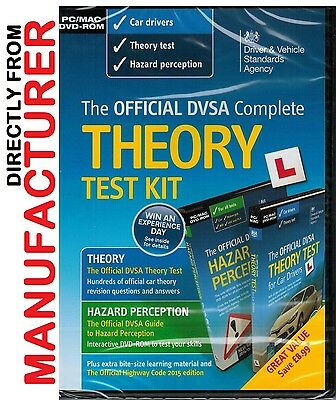 Official DSA Theory Test Kit 2017 PC MAC DVD Hazard Perception DVLA CD kit