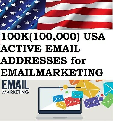 Buy 100K(100,000)  Usa Active Email Addresses For Email Marketing