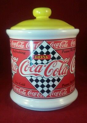 NIB Coca-Cola Medium Ceramic Cannister Jar Collectable Kitchen Decor