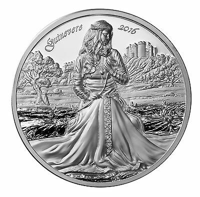 2016 LEGENDS OF CAMELOT - GUINEVERE 2 oz Silver Coin Cook Islands 10$
