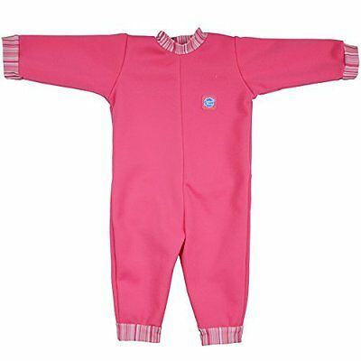 Splash About Warm in One Baby Wetsuit (X Large (12-24 Months), Pink Candy Stripe