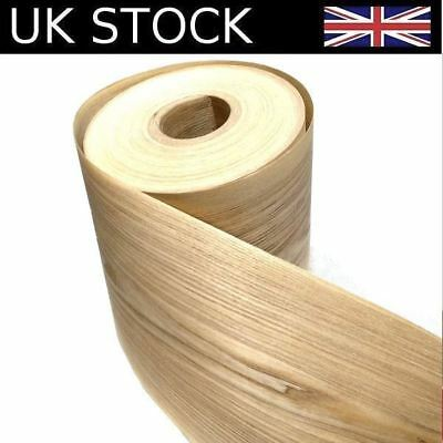 Natural Oak Real Wood Veneer 2450 x 200 x 0.3mm Sheet for Furniture & Speakers