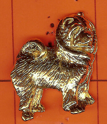 Chow  Chow    Shaped    Gold  Pins
