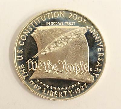 1987-S US Constitution Commemorative Proof Silver Dollar