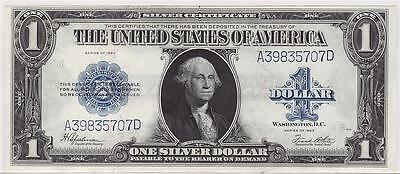 1923 USA $1 Silver Certificate Speelman White A39835707D UNC62+ nice & clean