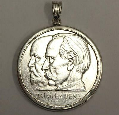 1886 - 1961 Daimler Benz 75 Years Large Silver Coin Pendant EF45+