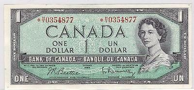 1954 Bank of Canada $1 replacement *H/Y 0354877 Choice Uncirculated UNC63