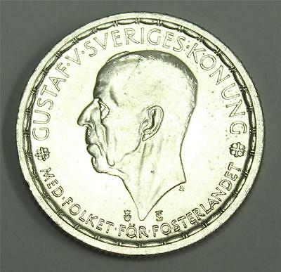 1950 Sweden 2 Kronor Coin Choice UNC MS64+