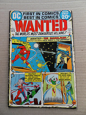 Wanted , the World most Dangerous Villains 1 . DC 1972 - VG / FN