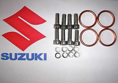 Exhaust Manifold Gasket & Header Bolts For Gsf600 Gsf1200  Bandit 2000 To 2005