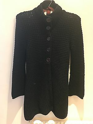 French Connection Black Coat Cardigan Size Small