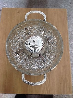 Glass & Silver Plated Serving Dish