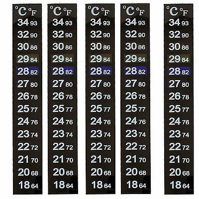 5X  LCD Stick On DIGITAL THERMOMETER Adhesive Aquarium Fish Tank Window Strip