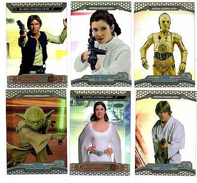 2014 Star Wars Chrome Perspectives Complete 100 card set