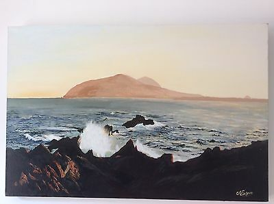 Original Acrylic Painting Of The Blasket Islands Ireland By Je Easom