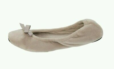 NEW Dearfoams  Ballerina  Slippers Pewter  Size M (7-8)