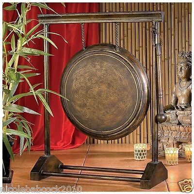 """24"""" Chinese ASIAN AUTHENTIC METAL GONG FENG SHUI DECOR W/ METAL BEATER MALLET"""