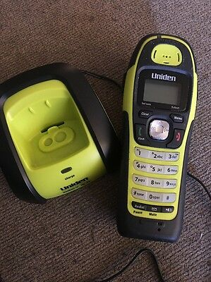 Uniden Dect 6.0 Charging Cradle Base & Phone for Submersible Green